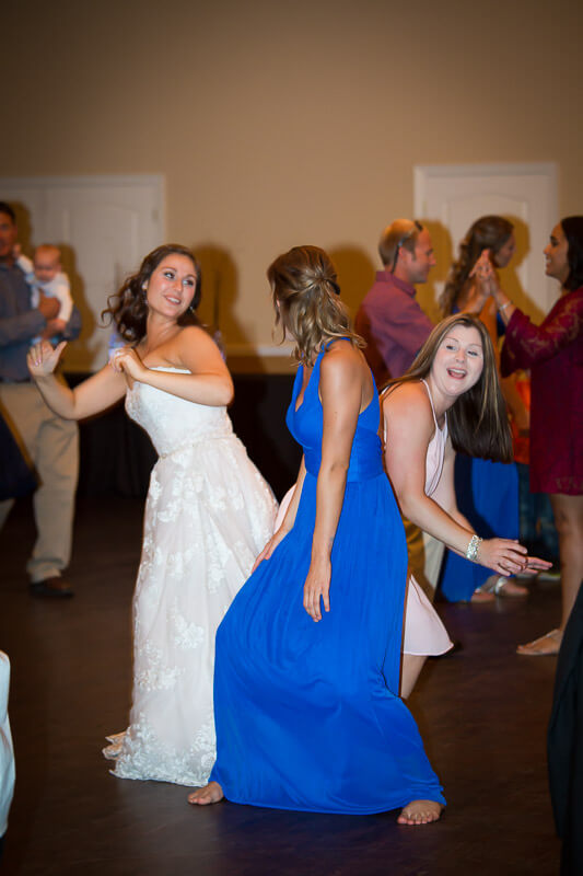 Bridal Party Dancing at Grand Oaks Resort