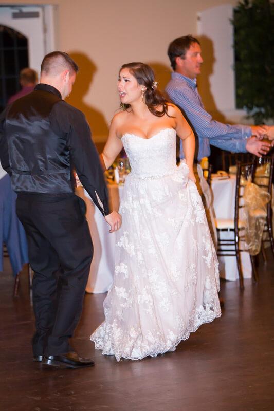 Bride & Groom Dancing at Grand Oaks Resort
