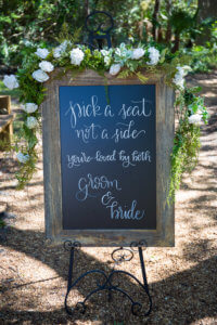 Floridian Manor Estate Wedding Ceremony Sign