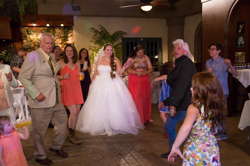 Floridian Manor Estate Wedding Reception Dancing with Bride
