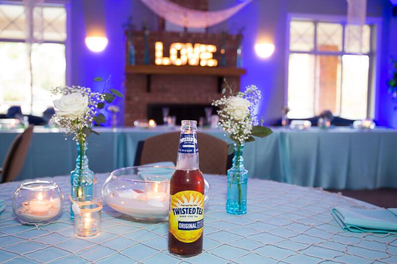 Beer On Wedding Table