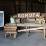 Konopa Stand in Barn at 3M Ranch and Events