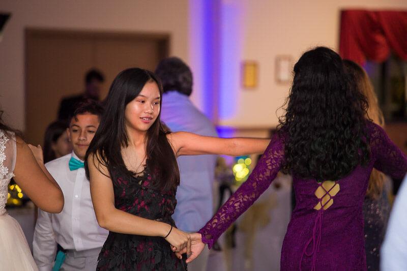 Girls Dancing at Quinceañera