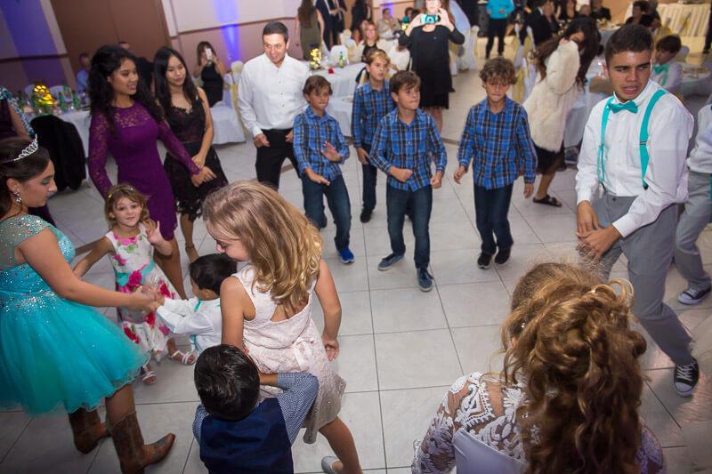 Group Dancing At Quinceañera