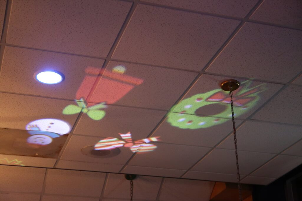 Christmas Light Projector at Habaneros