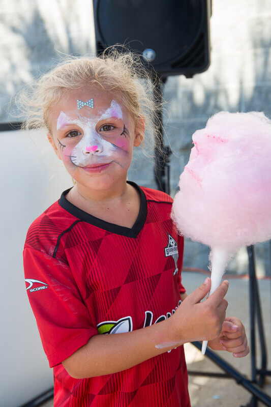 Daughter with Cotton Candy